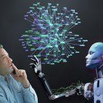 Mensch und Künstliche Intelligenz arbeiten zusammen